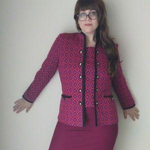 VTG Pink & Purple Blazer - Size14